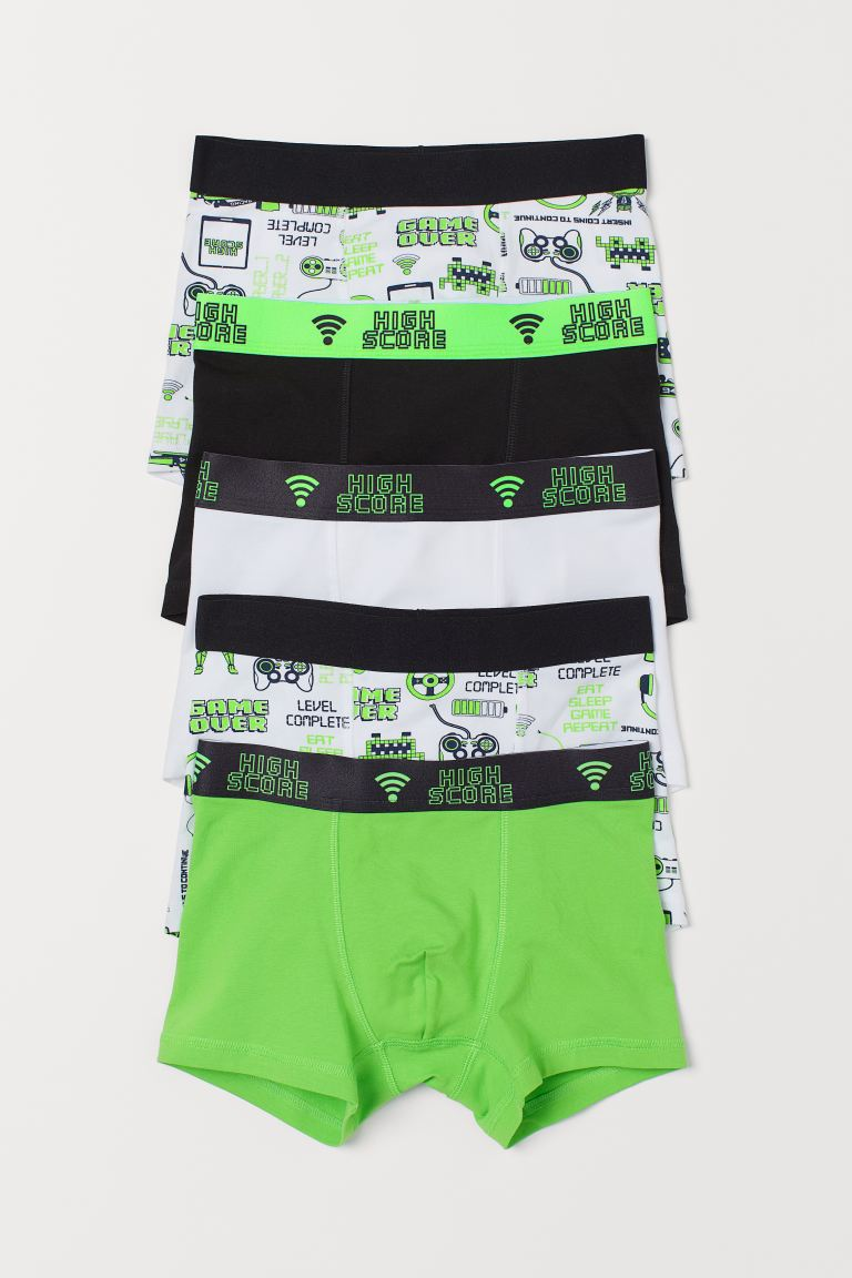 5-pack boxer shorts - Neon green - Kids | H&M