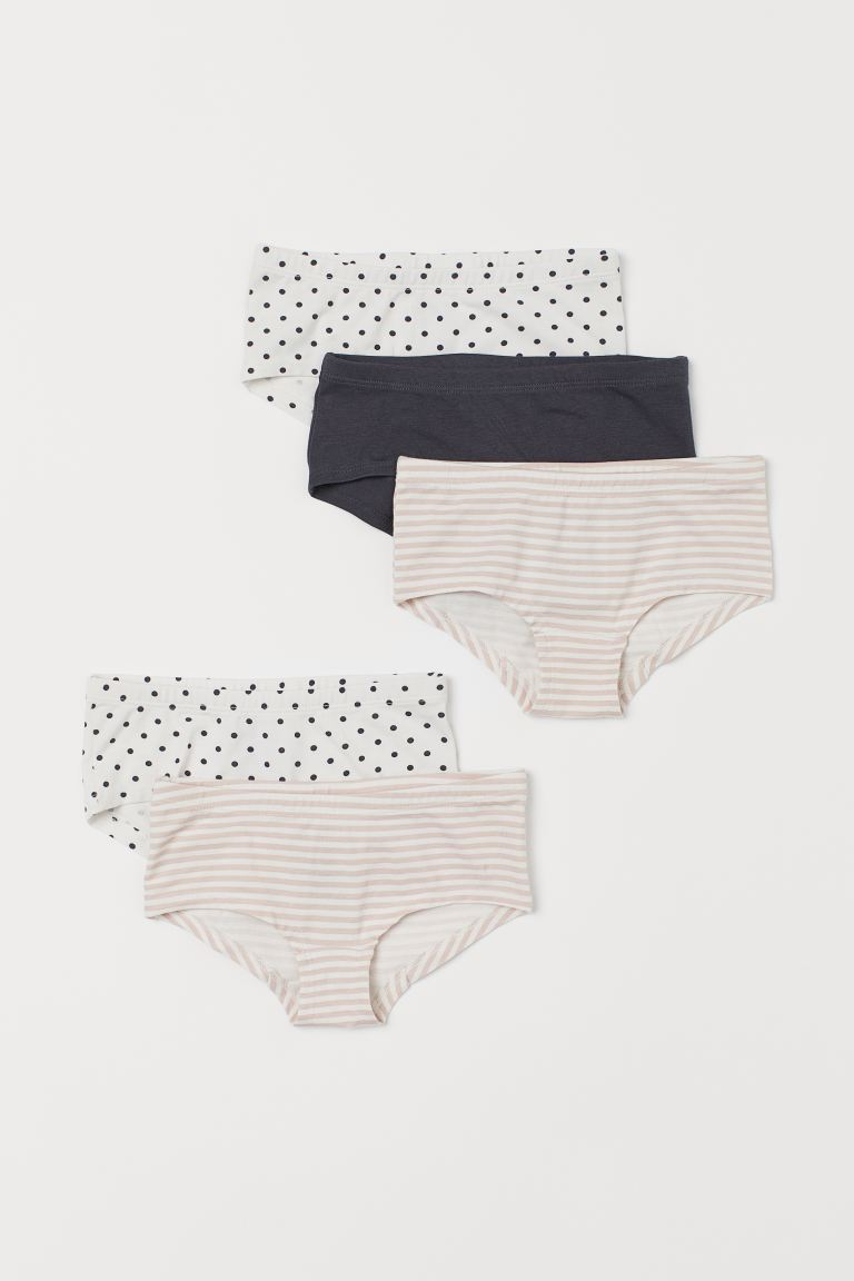 5-pack hipster briefs - White/Pink striped - Kids | H&M