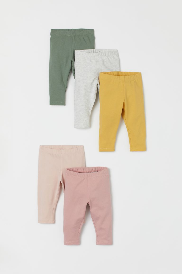 5-pack jersey leggings - Old rose/Green - Kids | H&M IE