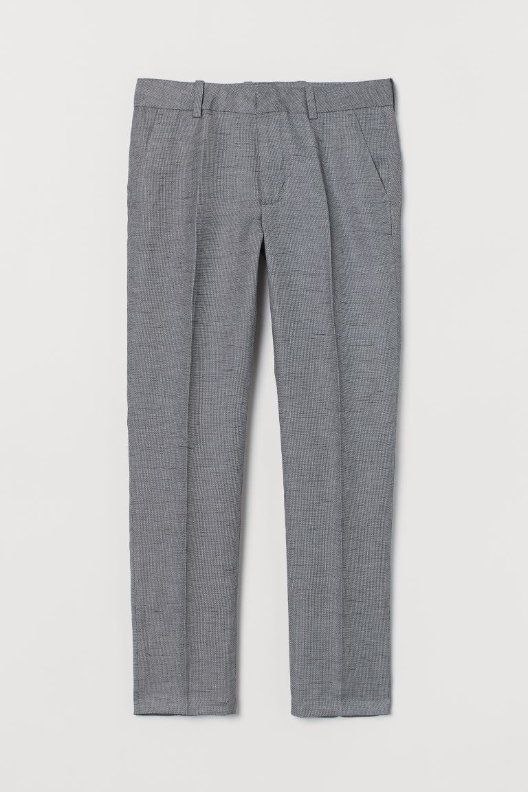 Textured Suit Pants - Dark gray - Kids | H&M US