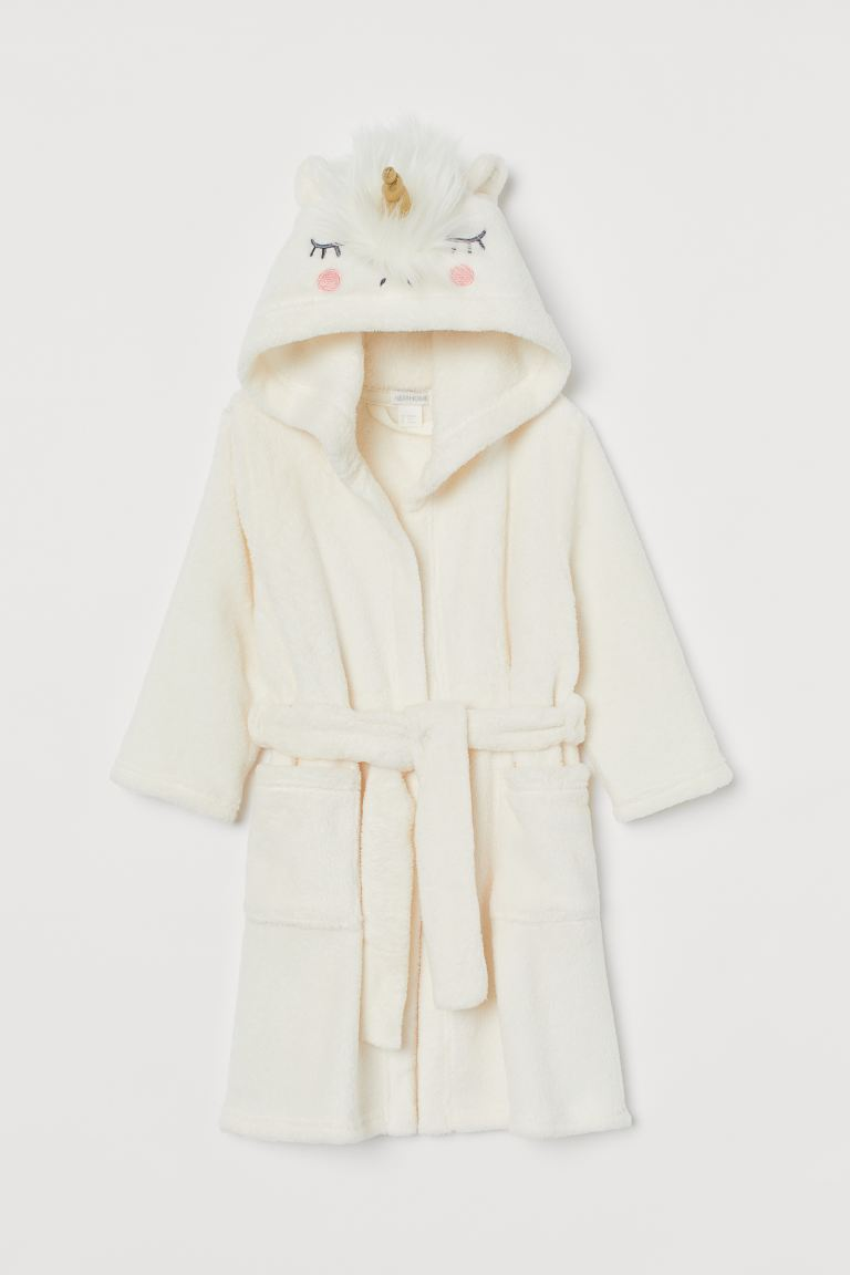 Dressing gown - White/Unicorn - Home All | H&M GB