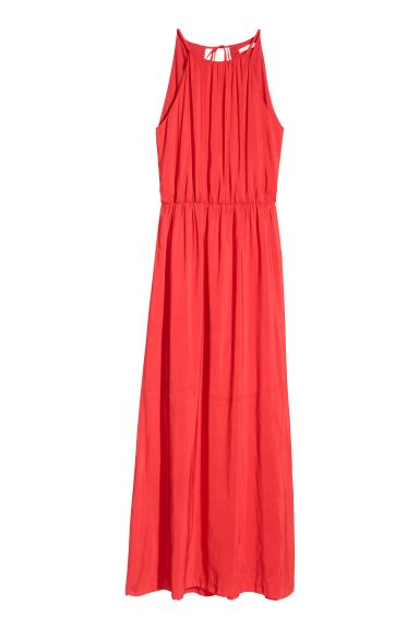Long Dress - Coral red - Ladies | H&M US