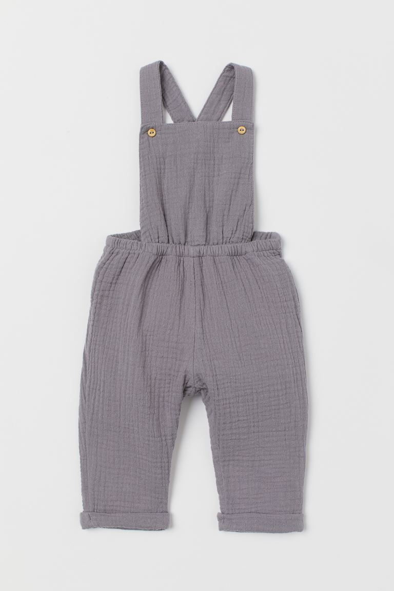 Cotton Overalls - Gray - Kids | H&M US