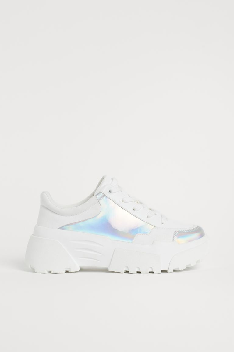Plateausneaker - Weiß/Holografisch - Ladies | H&M AT