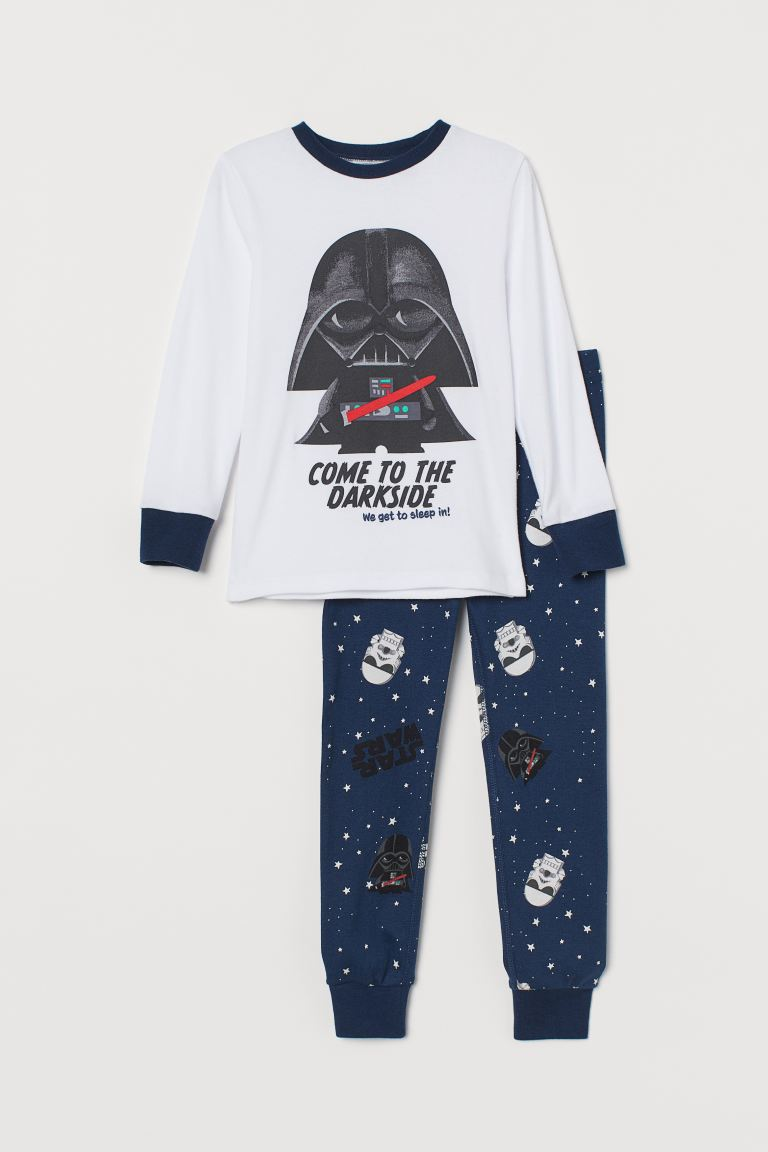 Pijama estampada - Azul oscuro/Star Wars - Kids | H&M MX