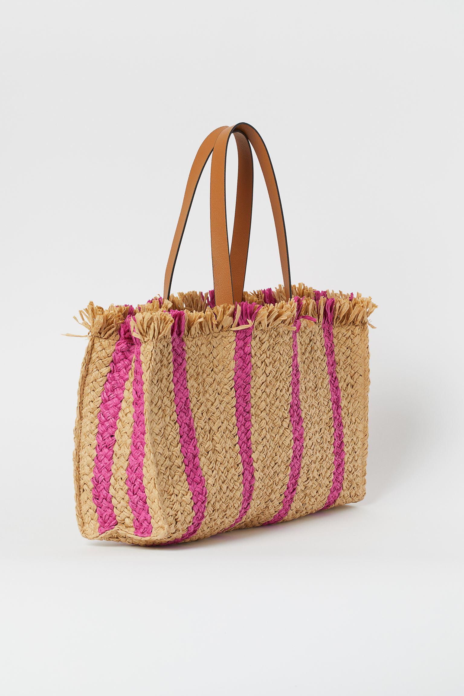 Straw shopper H&M