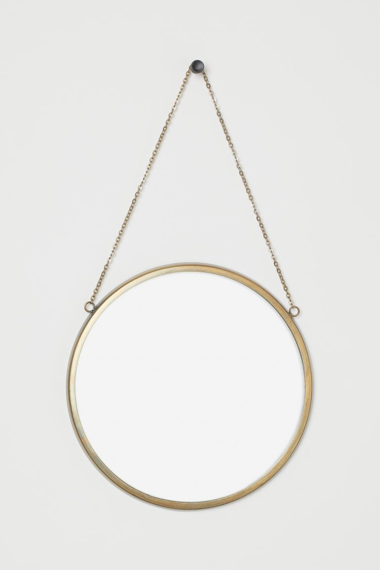 Miroir mural rond - Doré - Home All | H&M FR