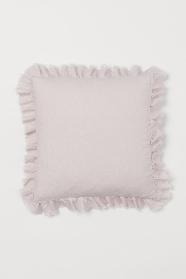 Linen Cushion Cover - Light pink - Home All | H&M US