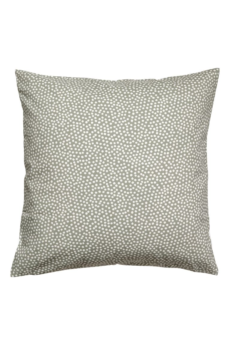 Copricuscino a pois - Verde nebbia/bianco pois - HOME | H&M CH