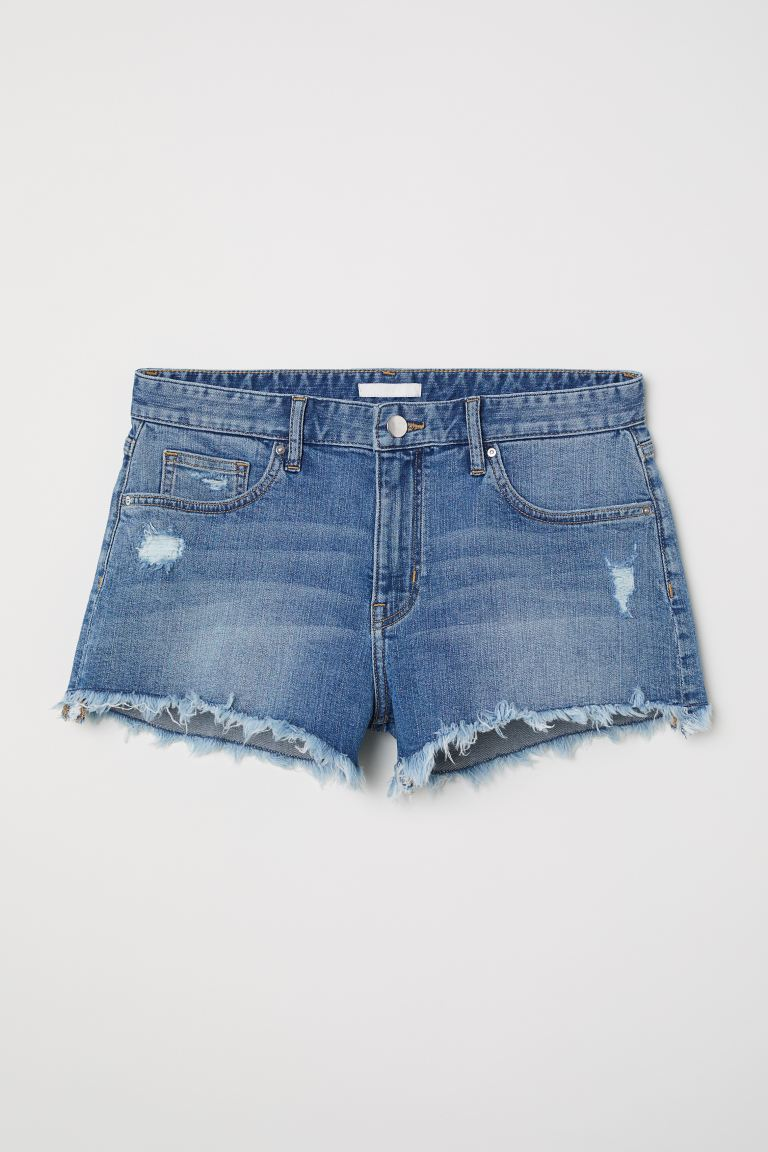 Denim shorts - Denim blue - Ladies | H&M GB