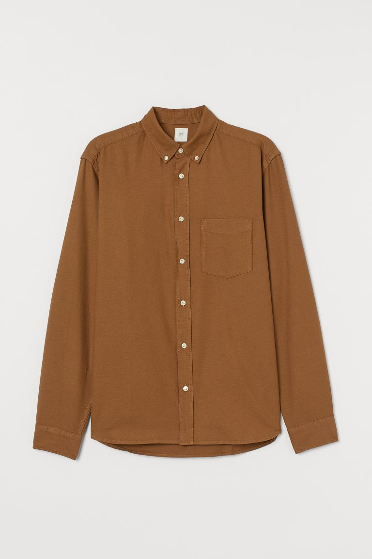 Oxford shirt Regular Fit - Light brown - Men | H&M GB
