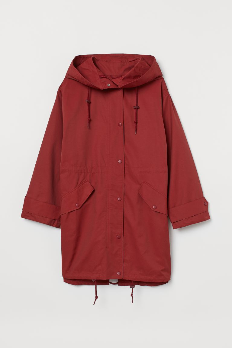 H&M+ Hooded Parka - Rust red - Ladies | H&M US
