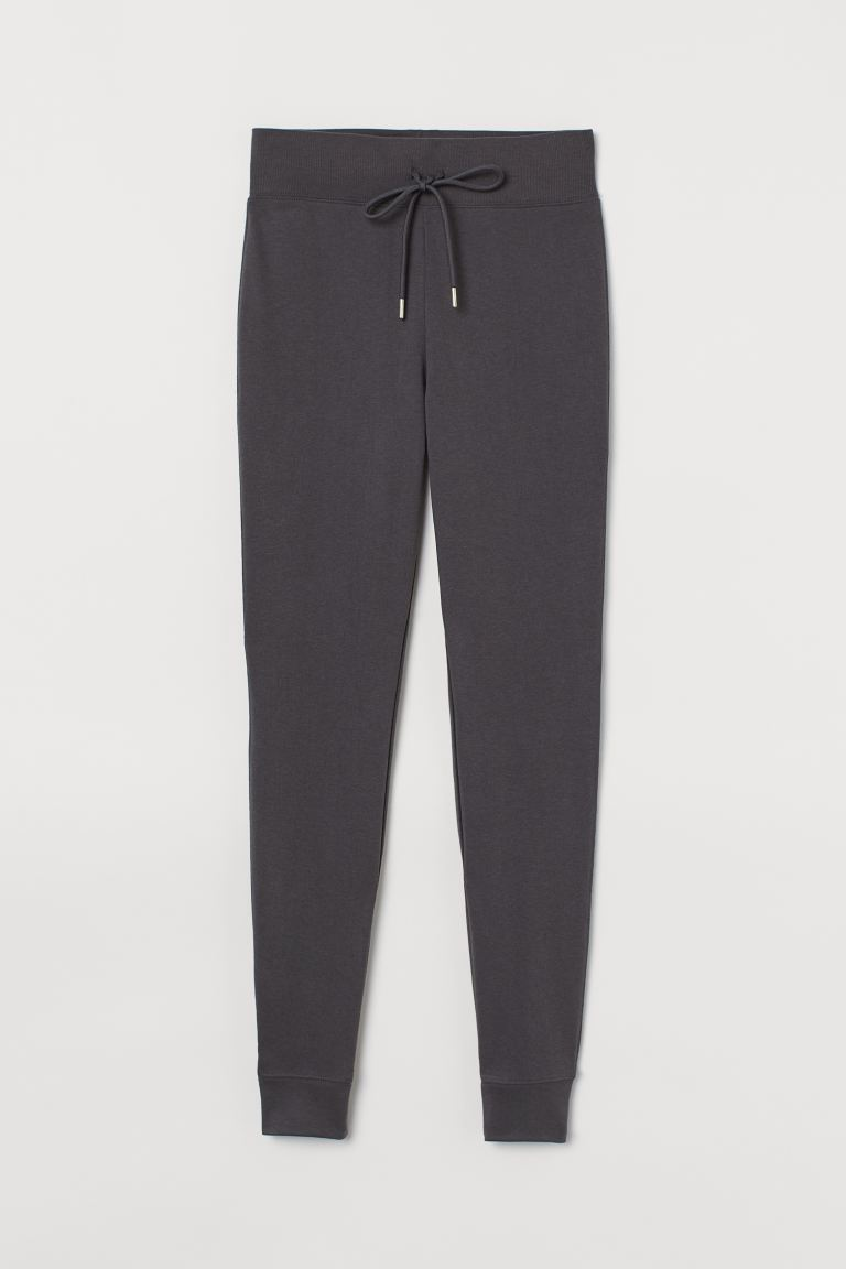 Cotton-blend joggers - Dark grey - Ladies | H&M