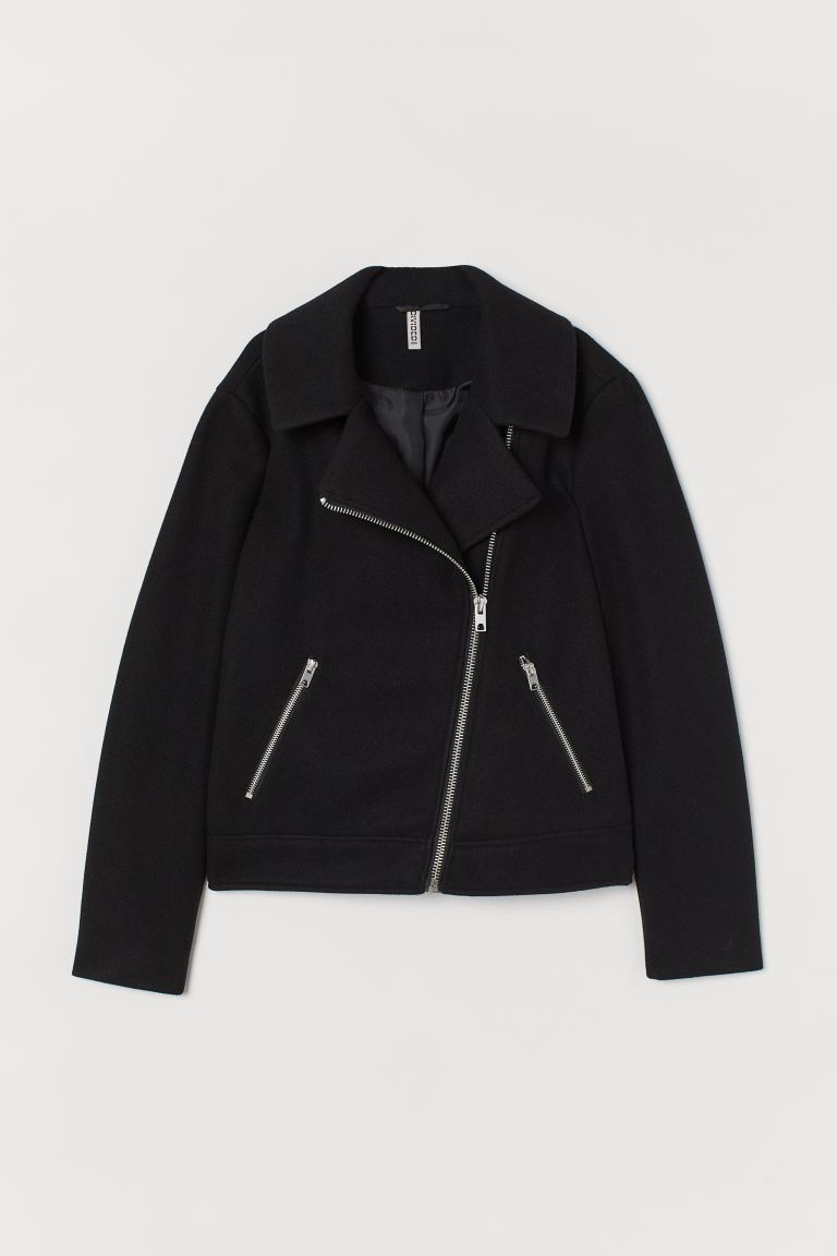 Angeraute Bikerjacke - Schwarz - Ladies | H&M AT