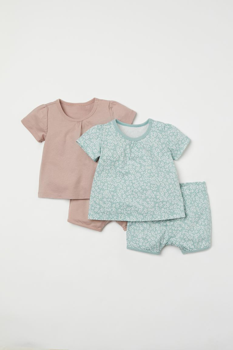2-pack de pijamas - Verde menta/Estampado - Kids | H&M MX