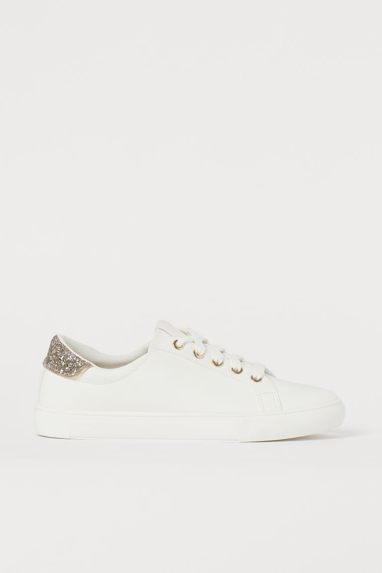 Glittery trainers - White - Ladies | H&M GB