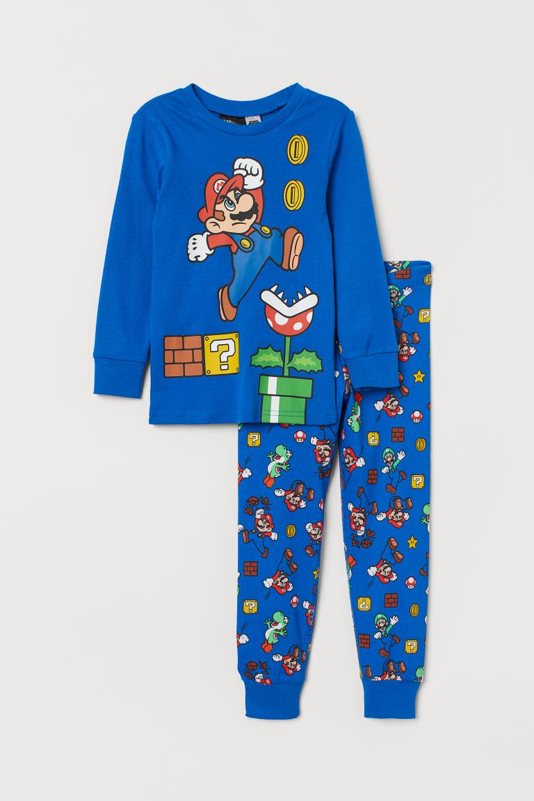 Pijama estampada - Azul intenso/Super Mario - Kids | H&M MX