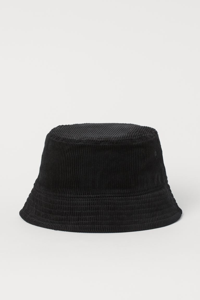 Corduroy Bucket Hat - Black - Men | H&M CA