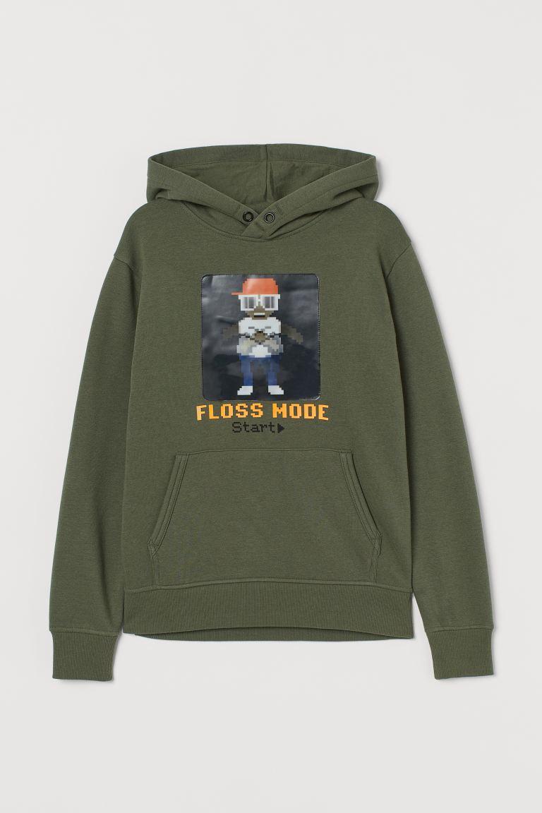 Appliquéd hoodie