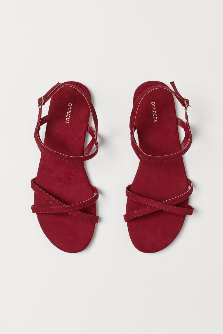 Sandals - Dark red - Ladies | H&M IN