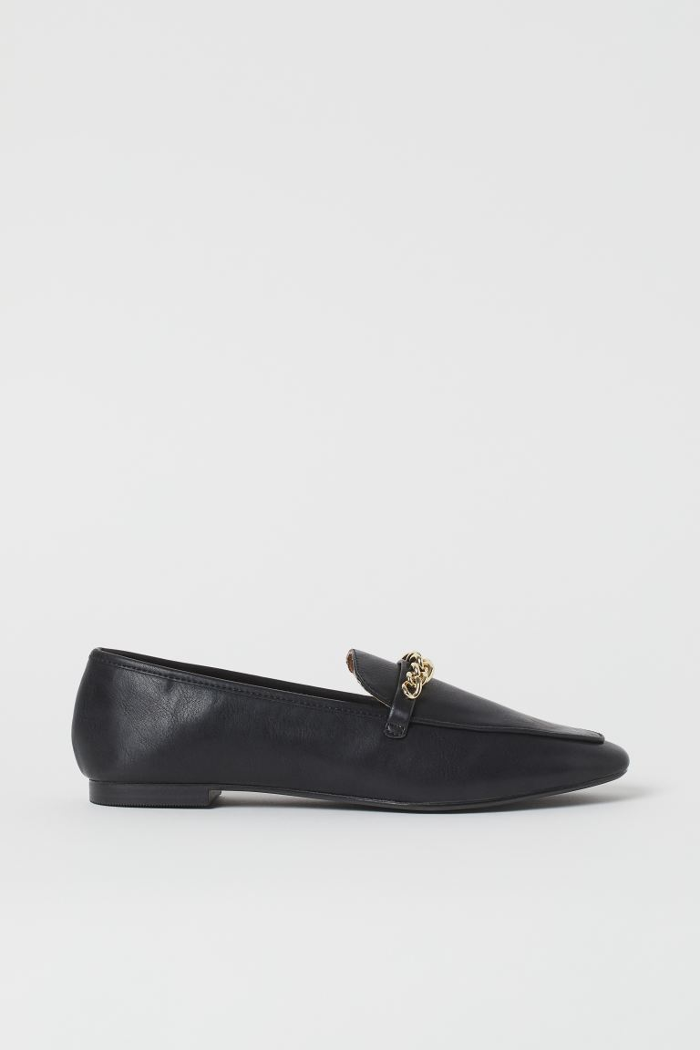Chain-detail loafers - Black - Ladies | H&M IN