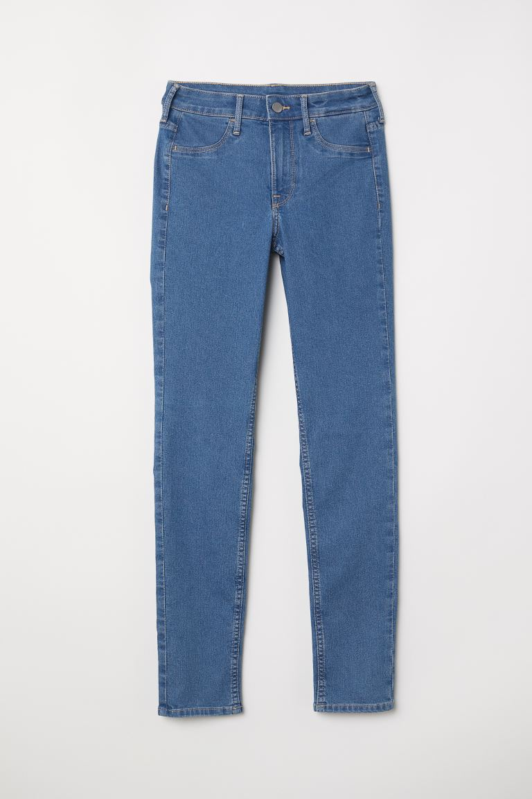 Skinny Regular Ankle Jeans - Denimblauw - DAMES | H&M NL