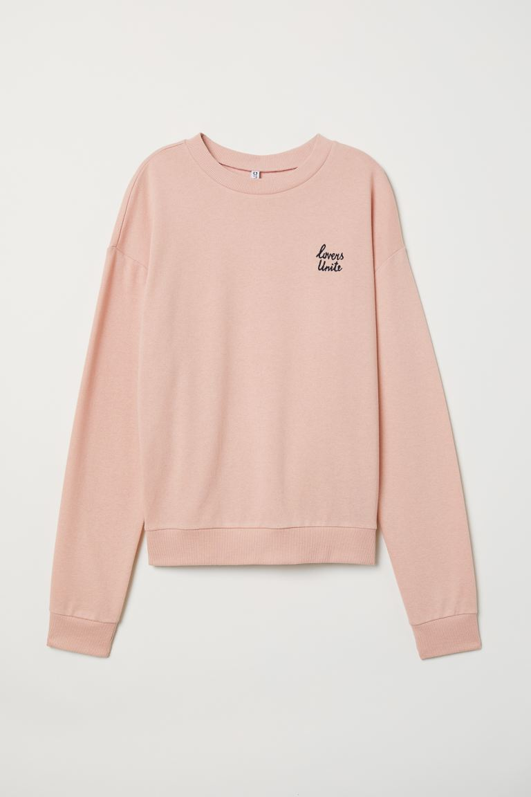 Felpa - Rosa antico/Lovers - DONNA | H&M IT
