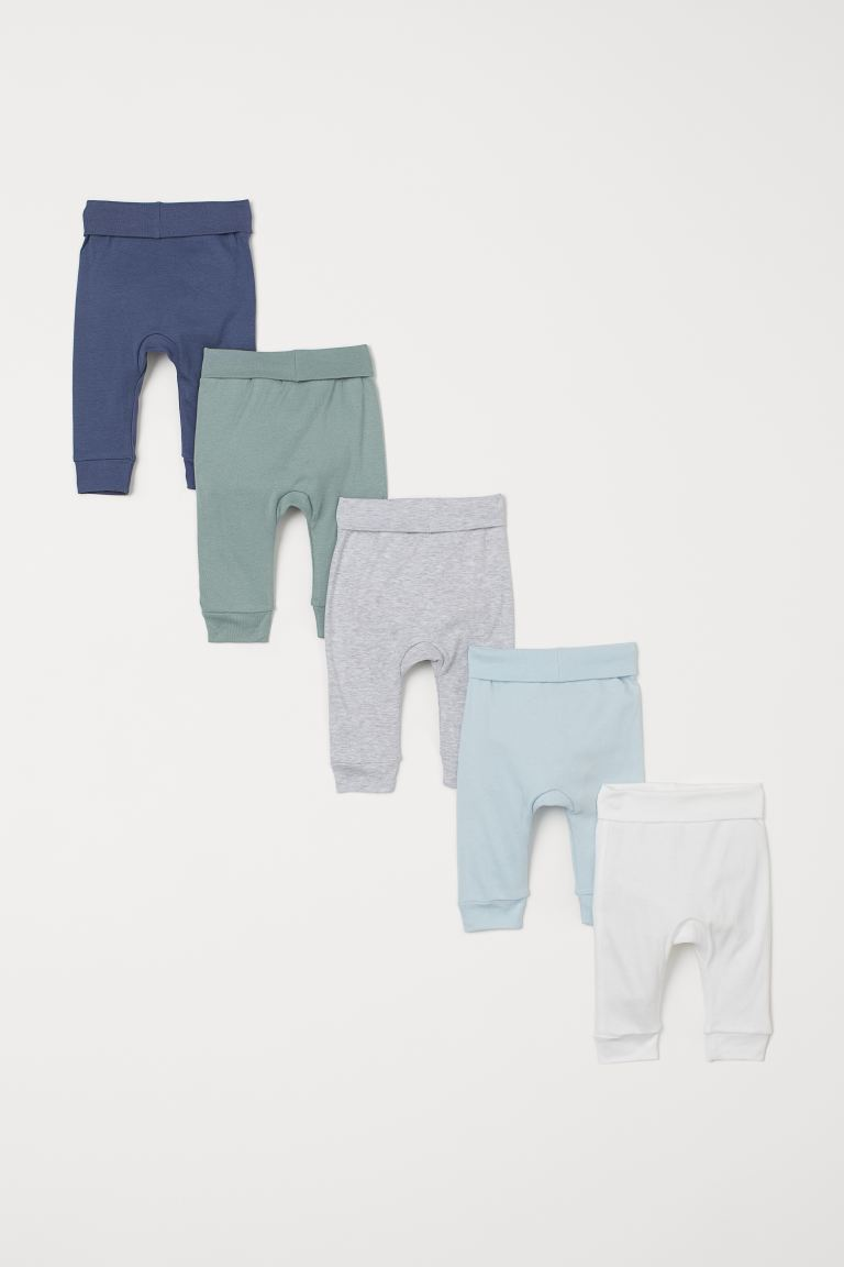 5-pack cotton trousers - Light turquoise/White - Kids | H&M