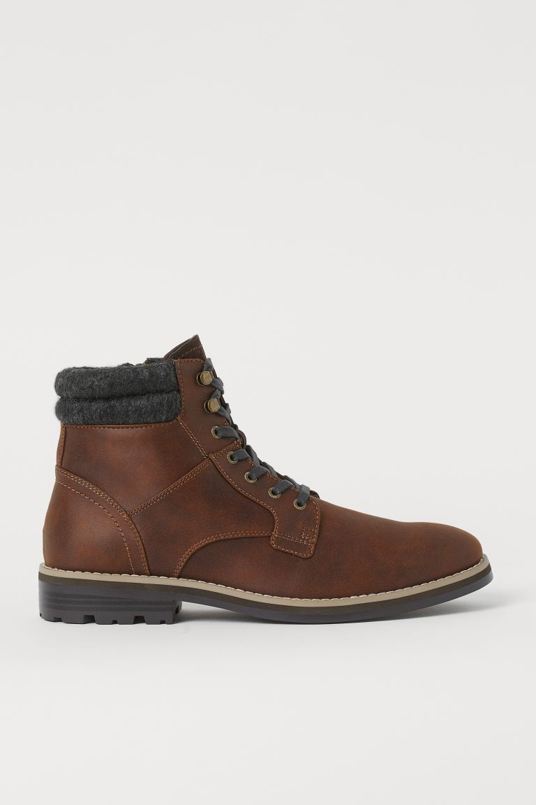 Side-zip boots - Brown - Men | H&M