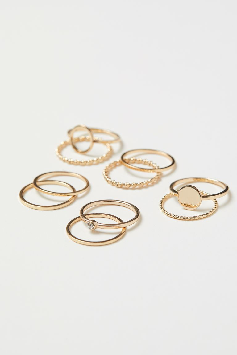 10-pack Rings - Gold-colored - Ladies | H&M US