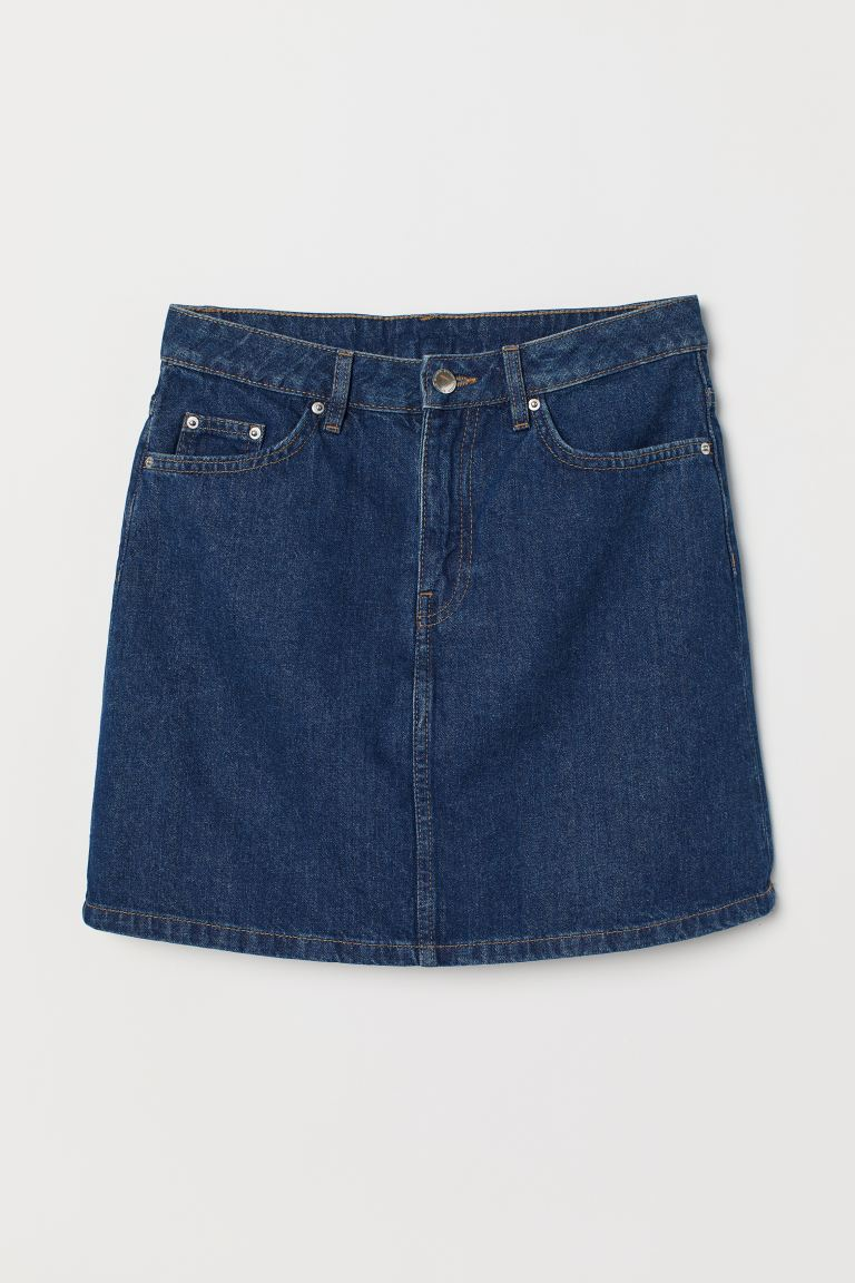 Denim skirt - Dark denim blue - Ladies | H&M GB
