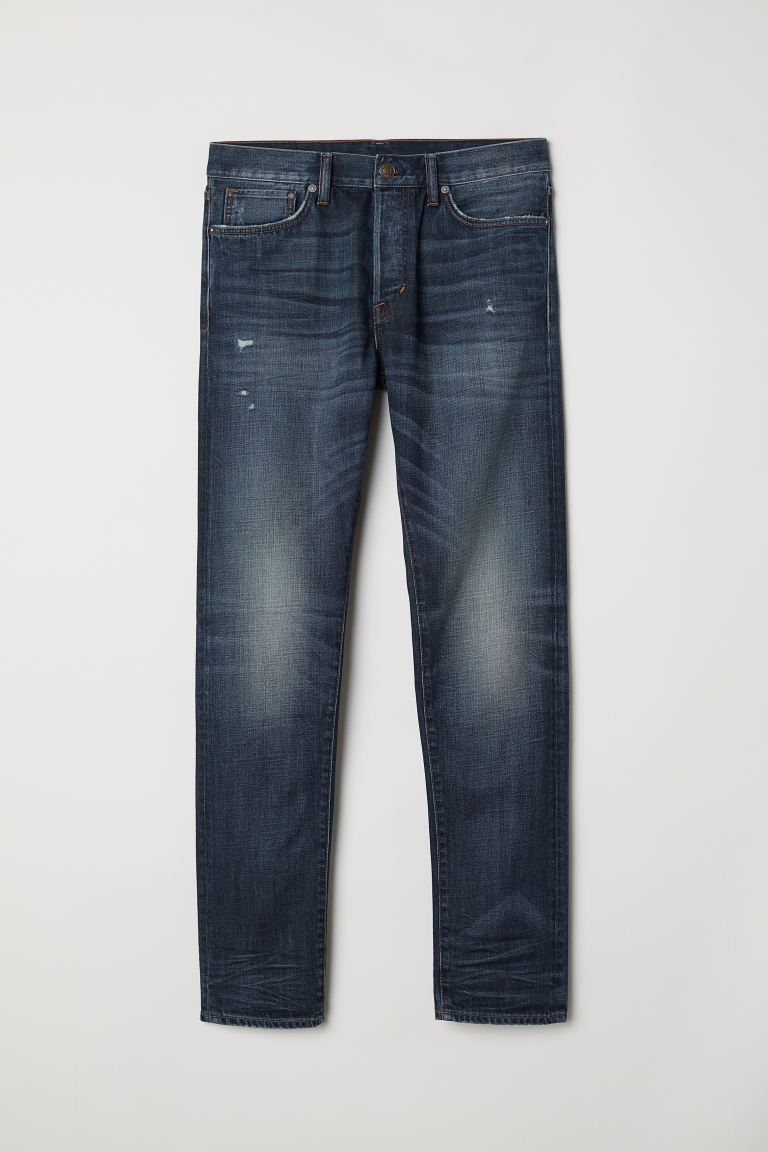Slim Straight Jeans - Dunkelblau - Men | H&M AT