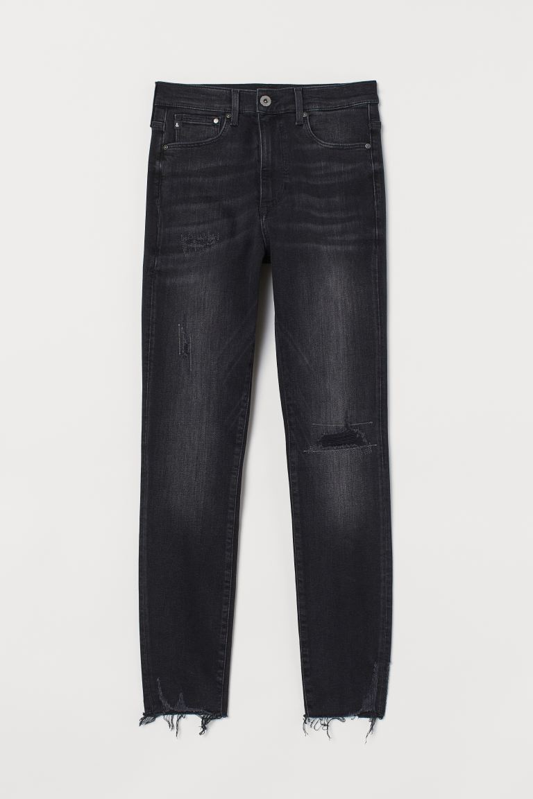 Shaping High Ankle Jeans - Nero/washed out - DONNA | H&M CH