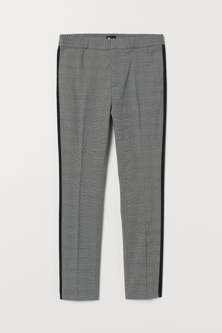 Suit Pants with Side Stripes - Black/checked - Men | H&M CA