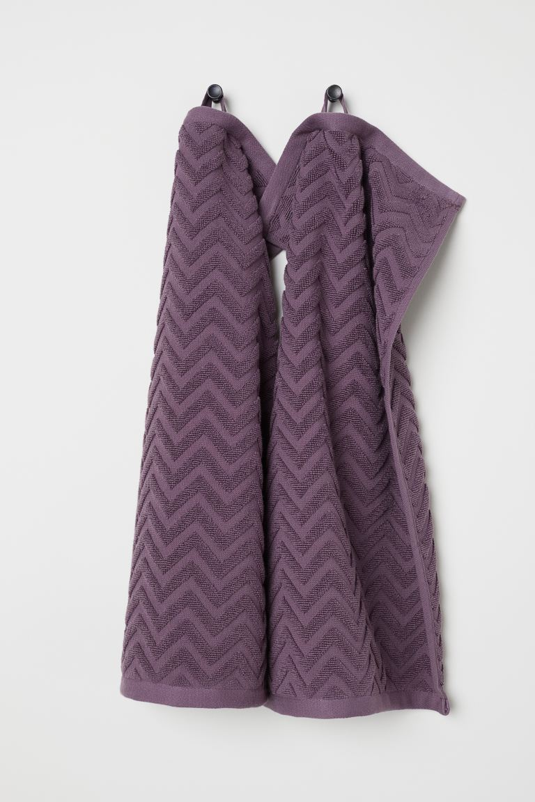 Essuie-mains, lot de 2 - Mauve - HOME | H&M BE