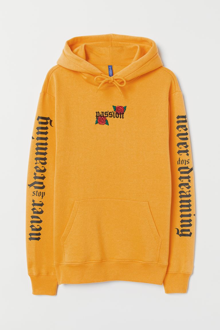 Hoodie - Yellow/Passion - Men | H&M IN
