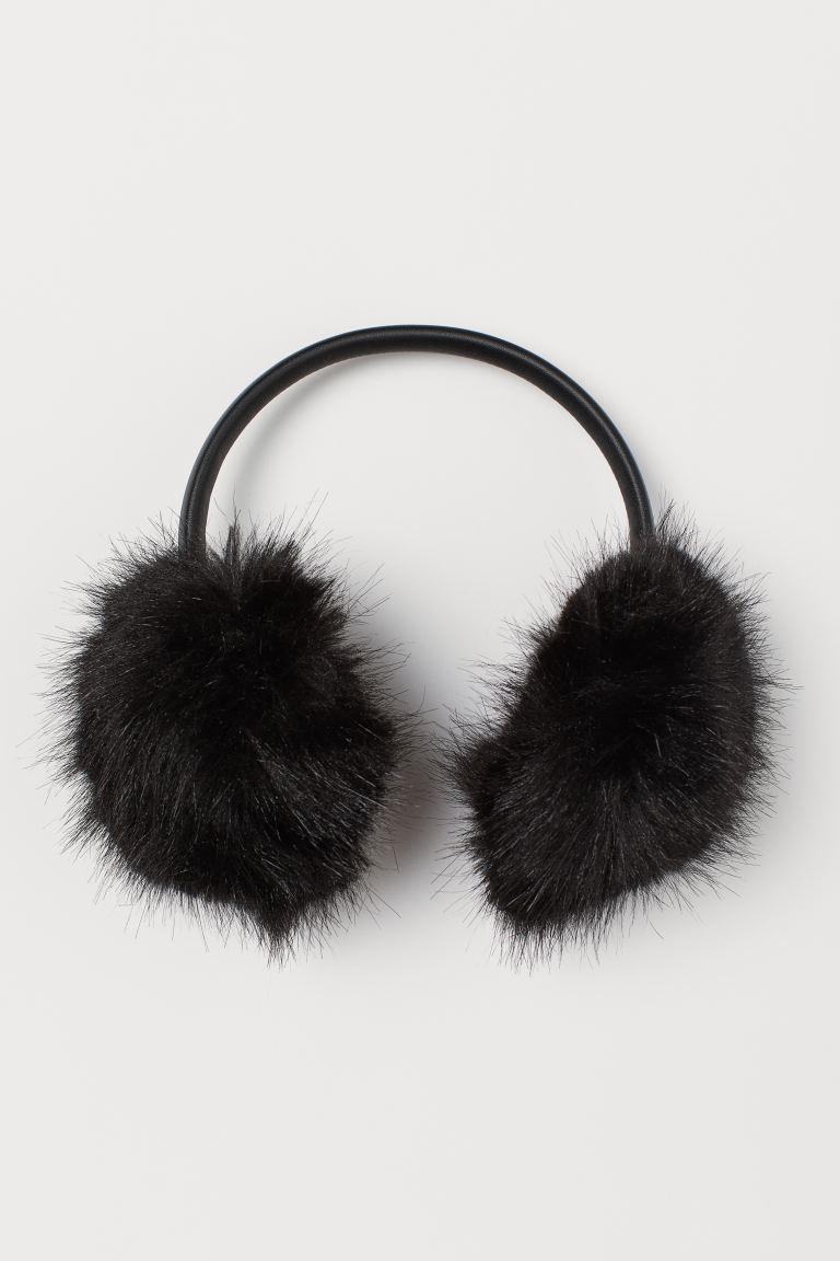 Ohrenwärmer aus Fellimitat