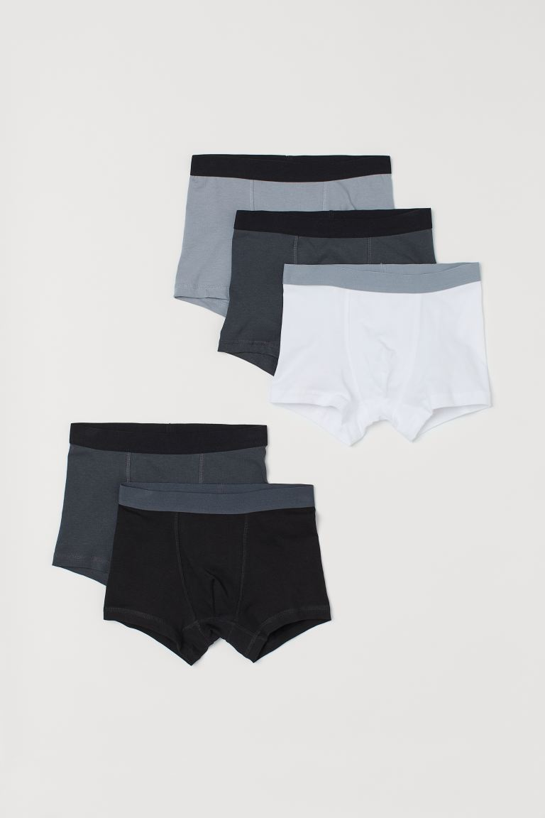5-pack boxer shorts - Black/Grey - Kids | H&M GB