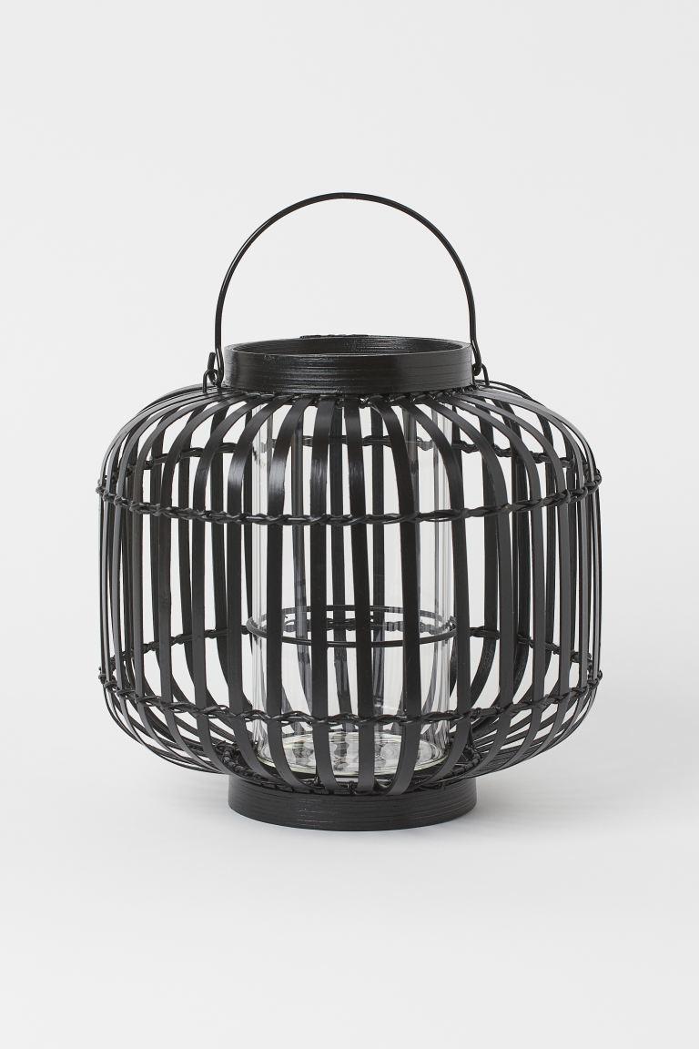 Φανάρι για κερί από μπαμπού - Μαύρο - Home All | H&M GR 2