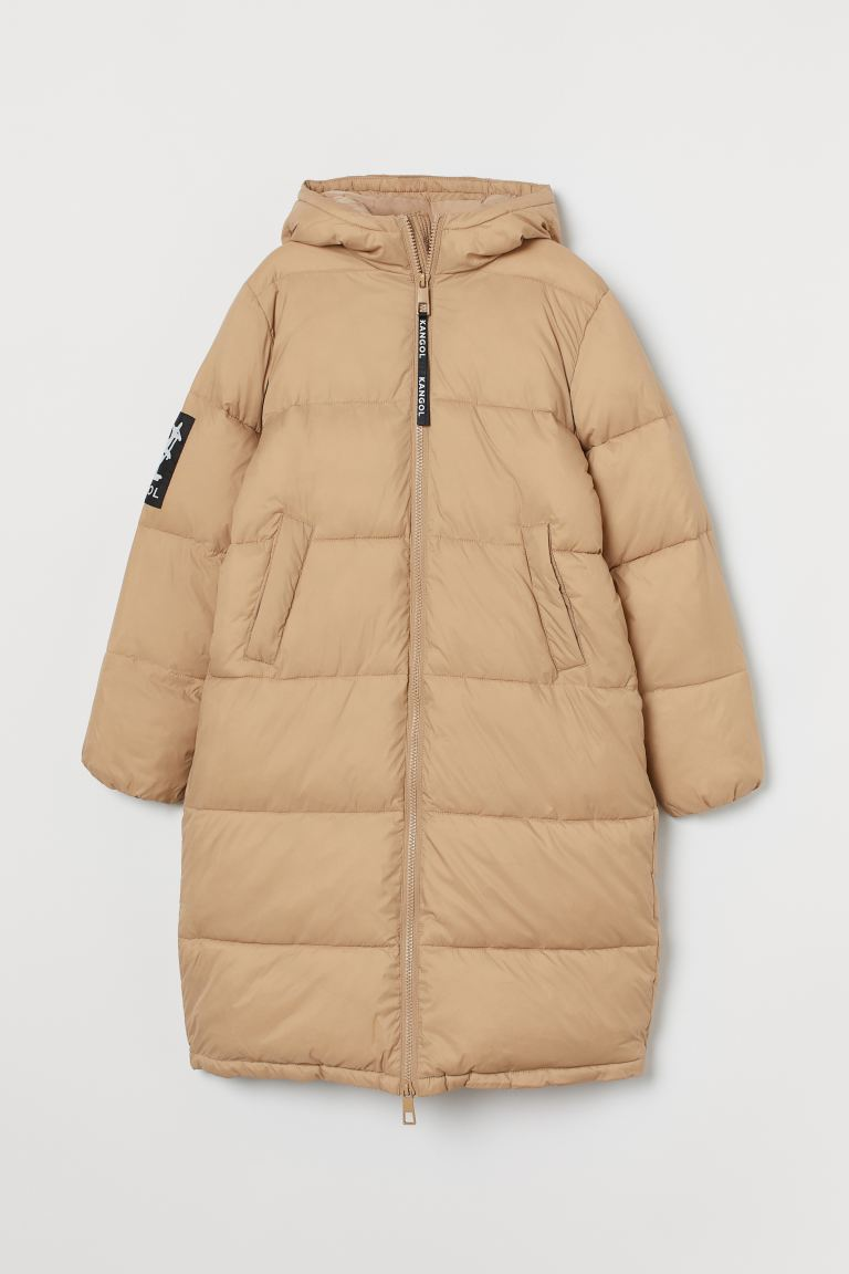 Long Puffer Jacket - Light beige - Ladies | H&M US