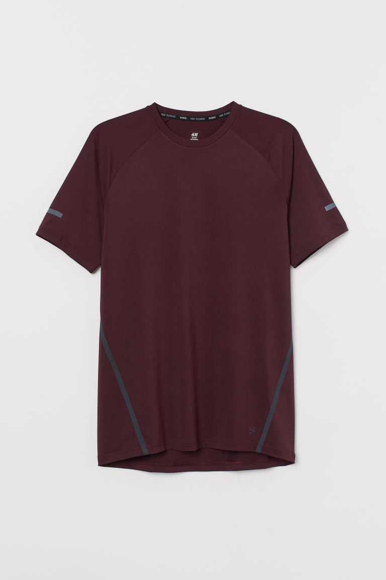 T-shirt running Regular Fit - Bordeaux - HOMME | H&M CH