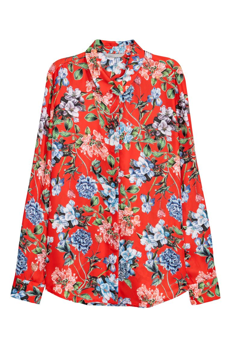 Blouse - Red/Patterned - Ladies | H&M GB