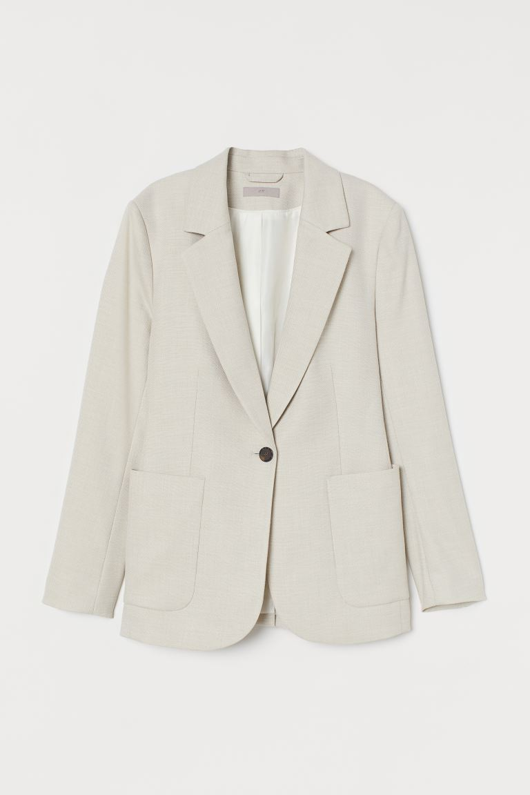 Gerader Blazer - Hellbeige - Ladies | H&M AT