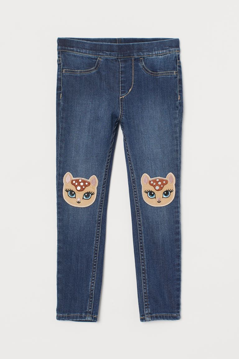 Denim Leggings - Denim blue/deer - Kids | H&M US