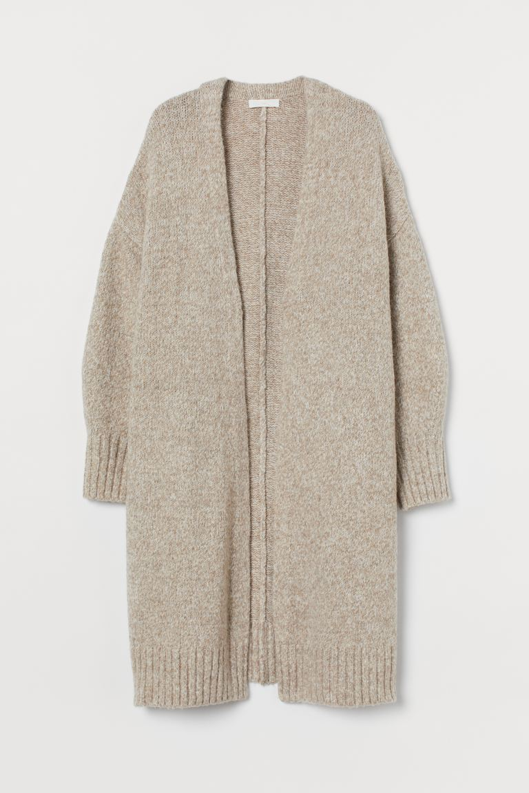 Long cardigan - Beige marl - Ladies | H&M
