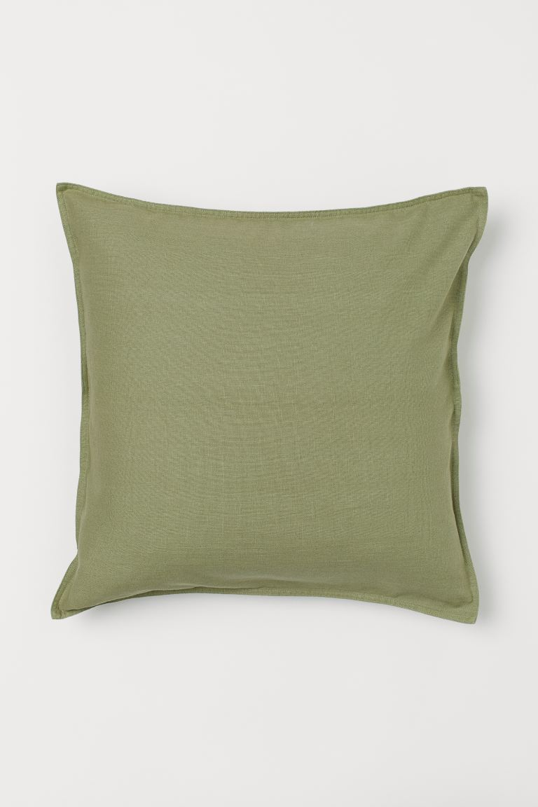 Solid-color Cushion Cover - Green - Home All | H&M US