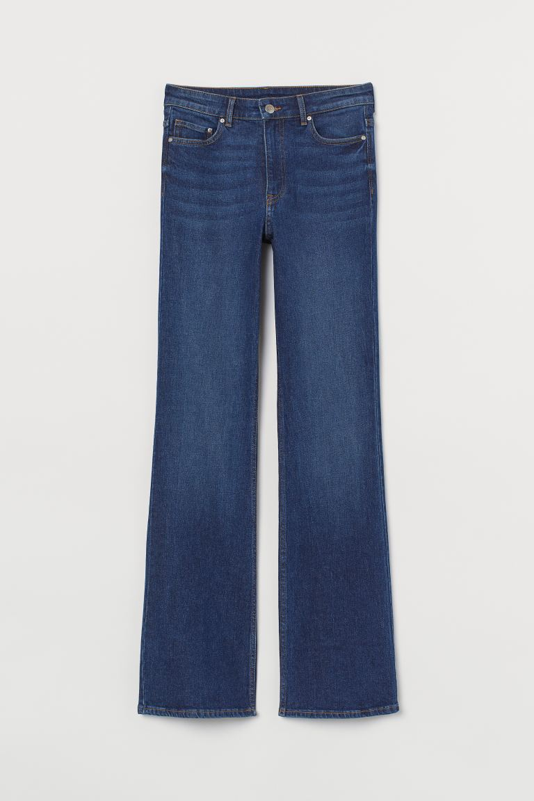 Bootcut High Jeans - Dark denim blue - Ladies | H&M US