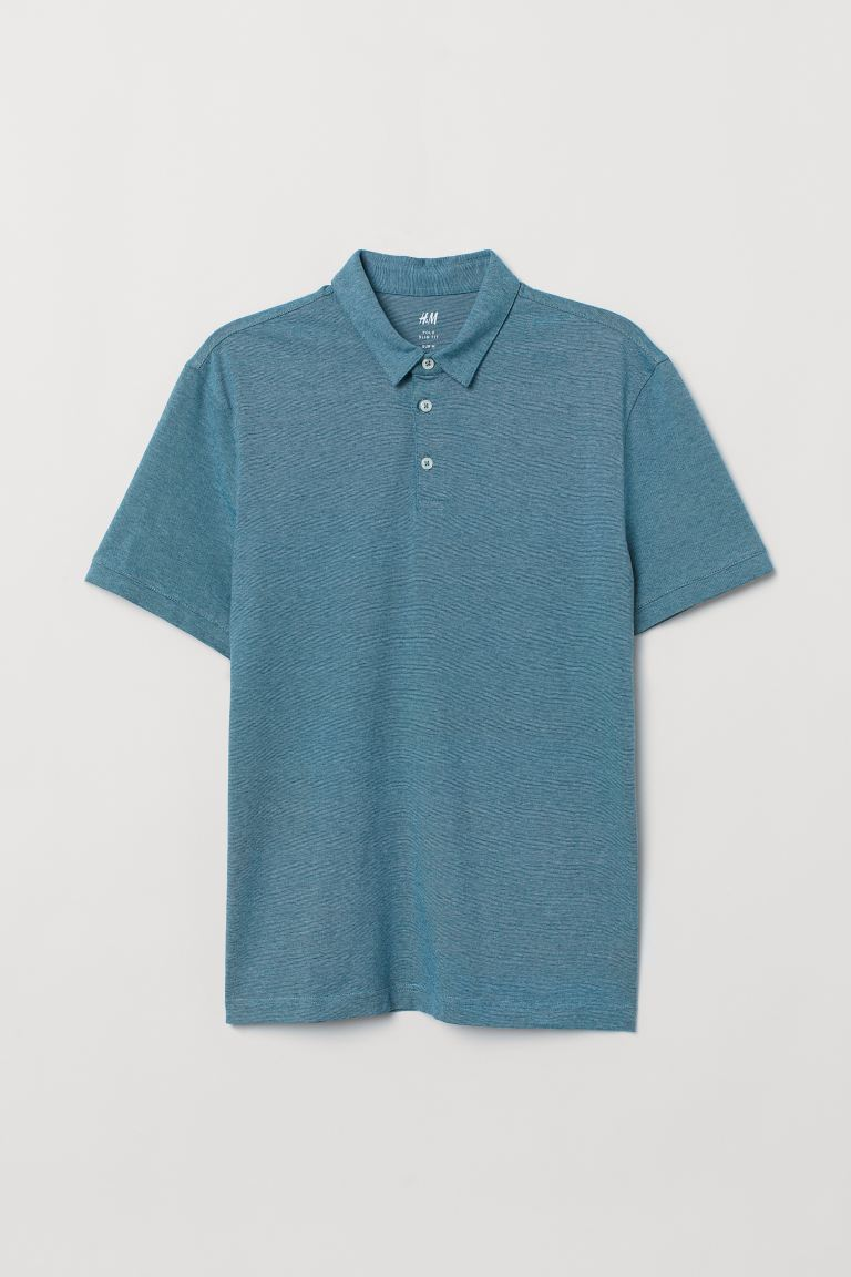 Polo Slim Fit - Turquoise chiné - HOMME | H&M CH