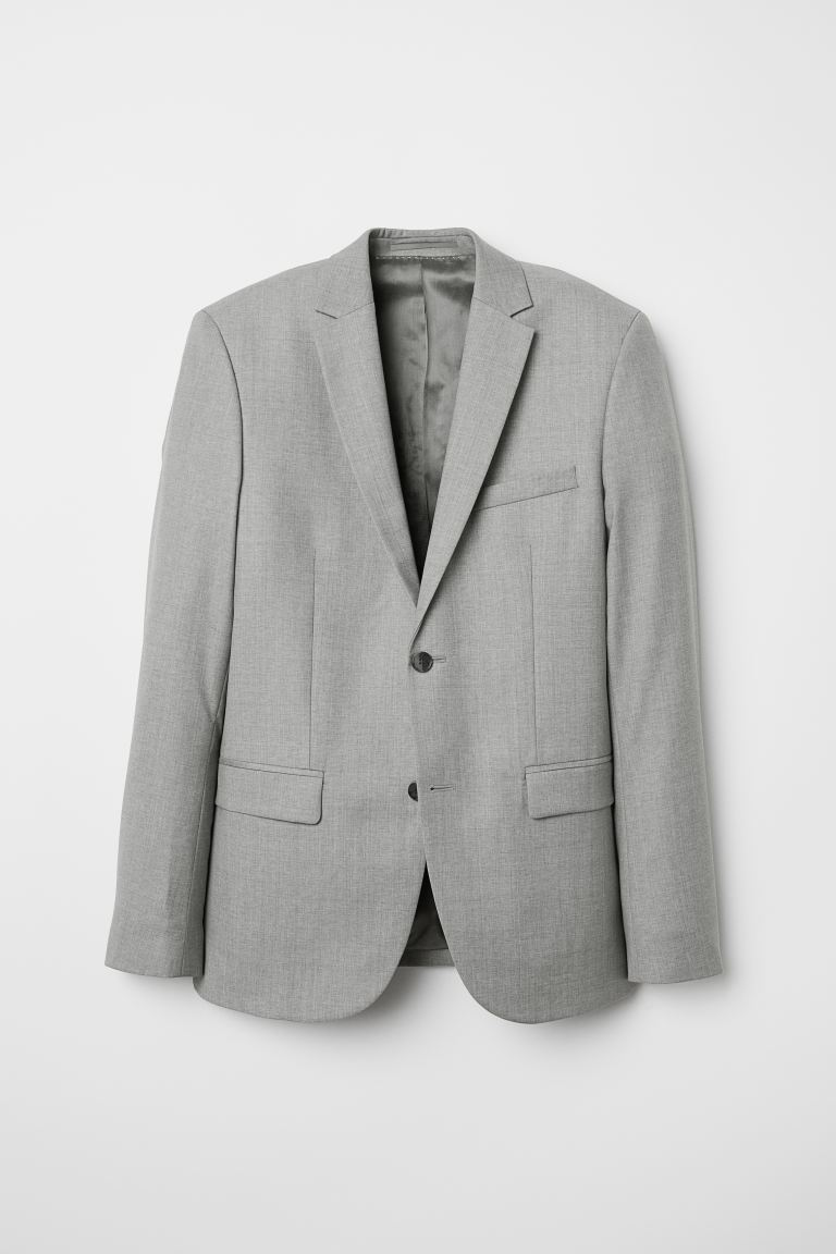 Wool jacket Slim Fit - Light grey - Men | H&M