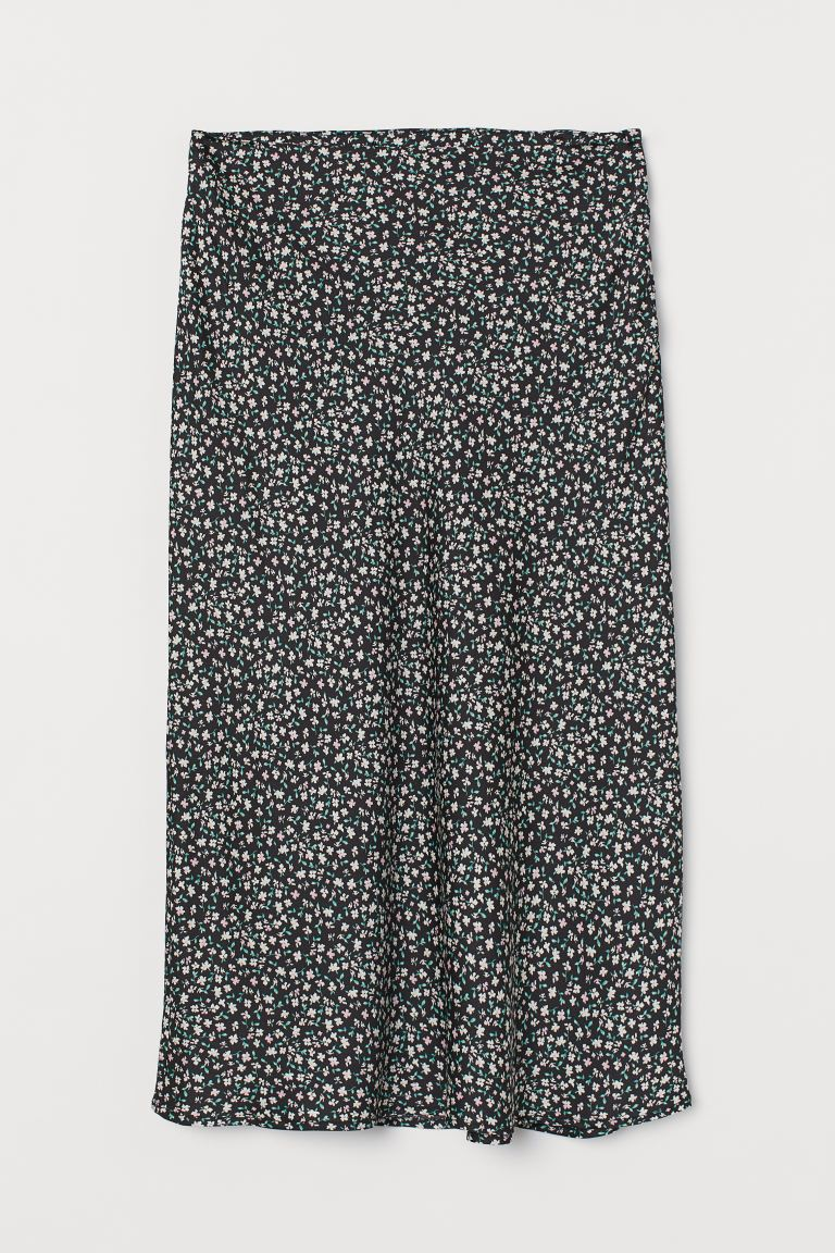 Skirt - Black/floral - Ladies | H&M US